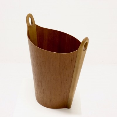 Molded Teak Waste Basket by Einar Barnes for P S Heggen, 1960's