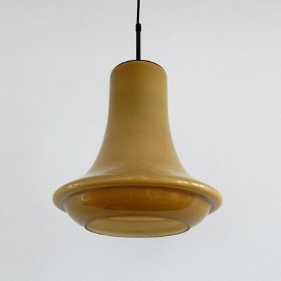 Caramel brown glass pendant lamp