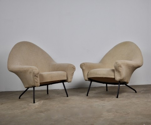 Pair of 'Model 770' Lounge chairs by Joseph-André Motte for Steiner, 1958