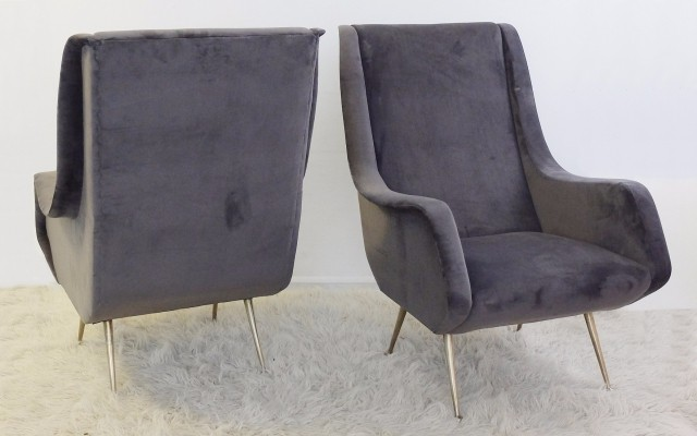 Pair of Italian Armchairs, 1960s