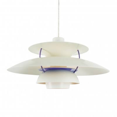 White classic PH5 pendant light by Poul Henningsen for Louis Poulsen, 1980s