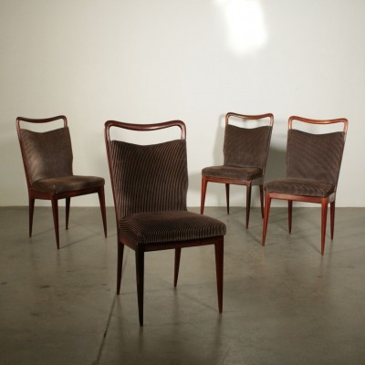 Set of 4 chairs by Isa, 1950s