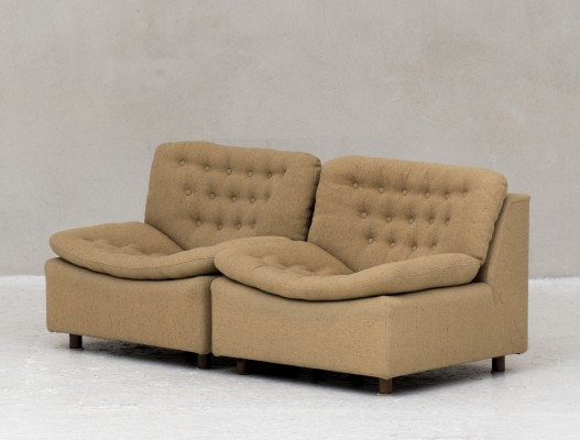 Beige 2–piece modular sofa, Holland 1960's