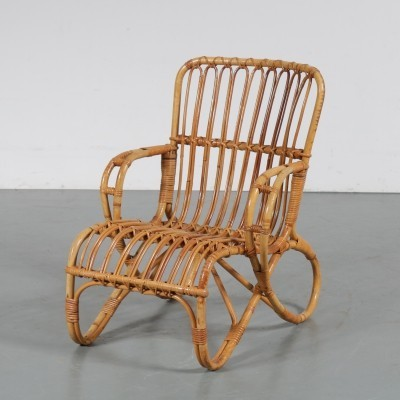 1950s Rattan children chair