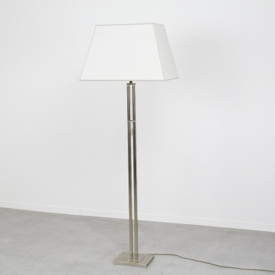 Hollywood regency floor lamp in brass & chrome, 1980s