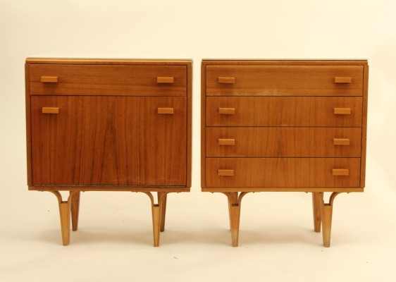 Pair of bedside cabinets, 1970s