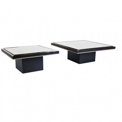 Pair of Coffee Tables by Roger Vanhevel with 23 Carat Gold, 1970s