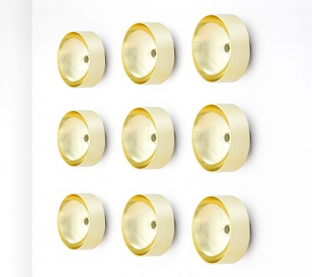 9 Peter Celsing Wall Sconces, Sweden 1966