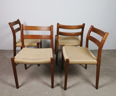Set of 4 Niels O. Moller 'no. 84' dining chairs, 1950s