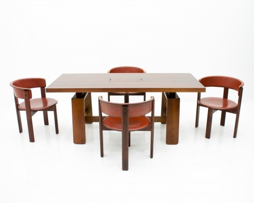 Dining Room Set by Silvio Coppola for Bernini & Four Cassina Chairs, Italy 60s
