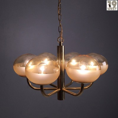Brass chandelier from the 1970's