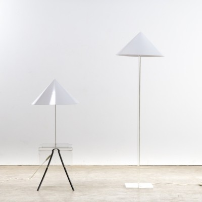 Floorlamp & table lamp by Harco Loor, 1980s