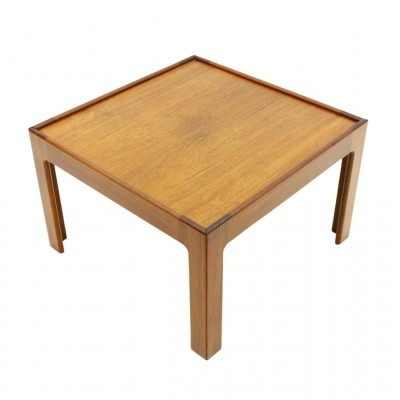 Teak Wood Side Table / Coffee Table by Illum Wikkelso, Denmark 1960s