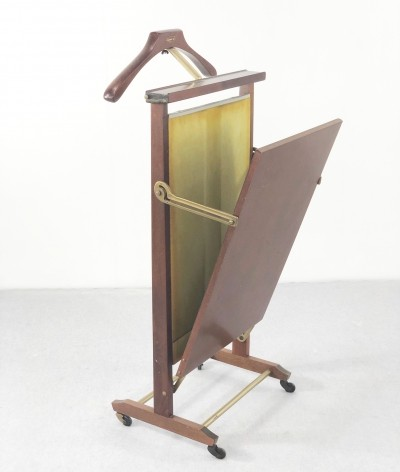 Vintage Italian Walnut Valet & Trouser Press from Fratelli Reguitti, 1960