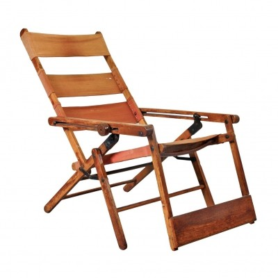 Rare Thonet Deck Chair 'Model 480' by Hans & Wassily Luckhardt, 1930s