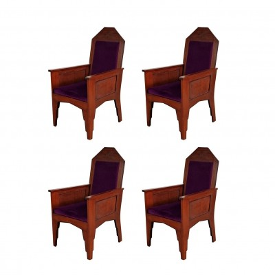 Set of Four Amsterdamse School Easy Chairs, 1920s
