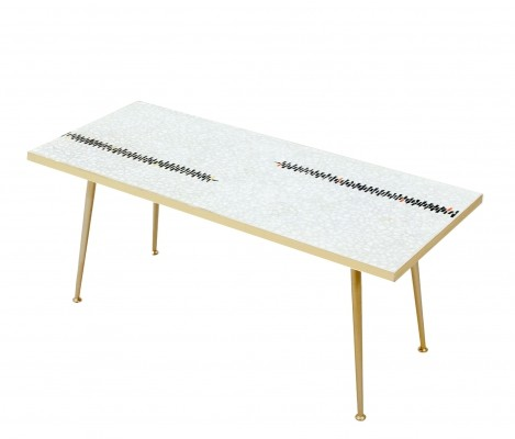 Glass mosaic coffee table by Berthold Müller Oerlinghausen, 1950s
