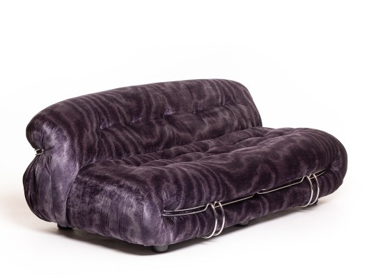 Mid-century Italian design 'Soriana' sofa by Afra & Tobia Scarpa for Cassina, 60's