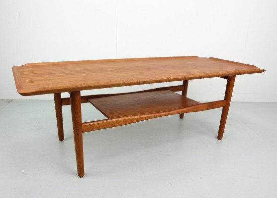 Teak Vintage Coffee Table by IMHA, 1960s