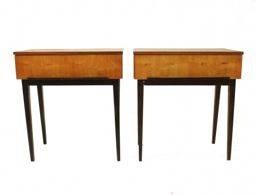 A pair of bedside tables by Jindřich Halabala