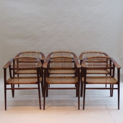 Set of 6 Bambi Dining Chairs by Rolf Rastad & Adolf Relling, Norway 1950s