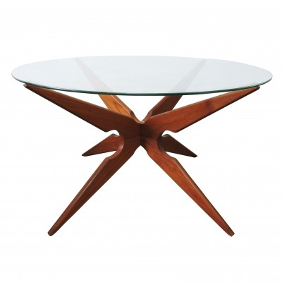 Spider Coffee Table Danish Leg Teak by Vladimir Kagan for Sika Mobler