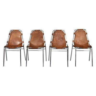 Set of 4 Charlotte Perriand Les Arcs chairs, 1960s