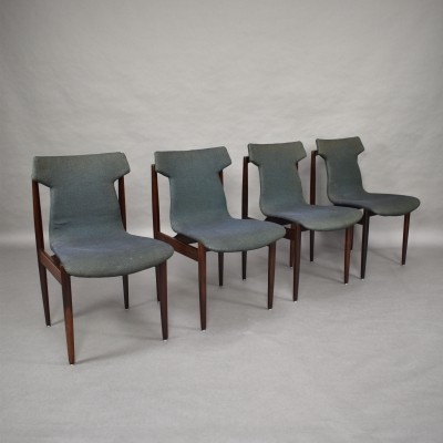 Set of 4 Inger Klingenberg for Fristho dining chairs in rosewood