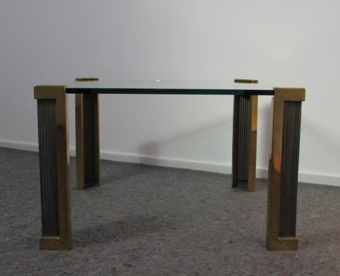 Peter Ghyczy Brass & Glass 'T14' Side Table