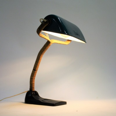 1930s enamel desk lamp by Erpe Belgium