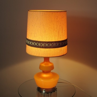 Danish Glass Holmegaard Table Lamp, 1960's