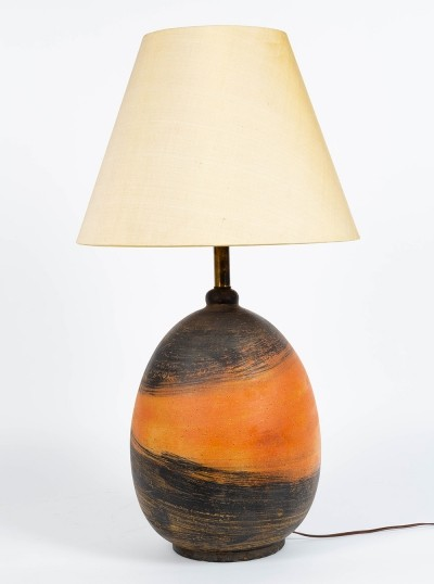 Exceptional ceramic lamp by the master Marcello Fantoni for Raymor