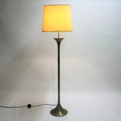 Faux bamboo floor lamp by Ingo Maurer, 1968