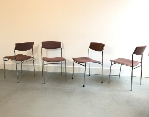 Set of 4 Gijs van der Sluis dining chairs, 1960s