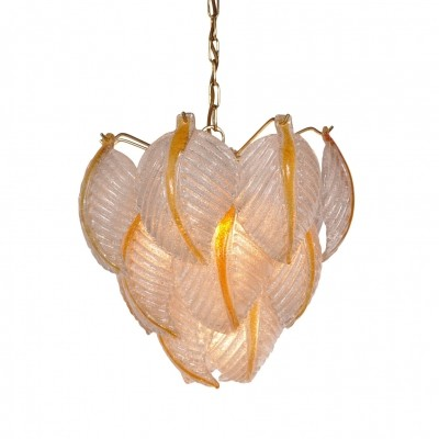 1960s Murano Glass Pendant Lamp by Mazzega, Italy