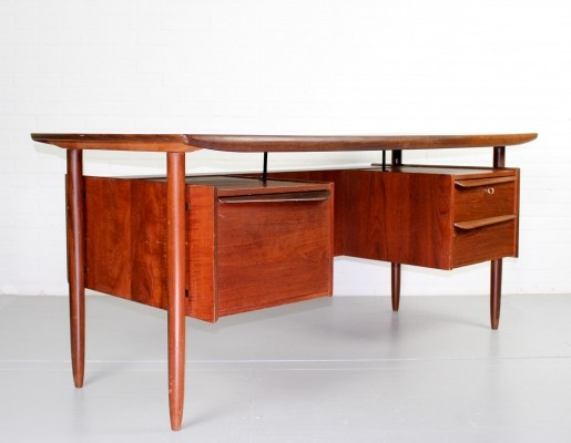 Cowhorn writing desk by Tijsseling, 1950s