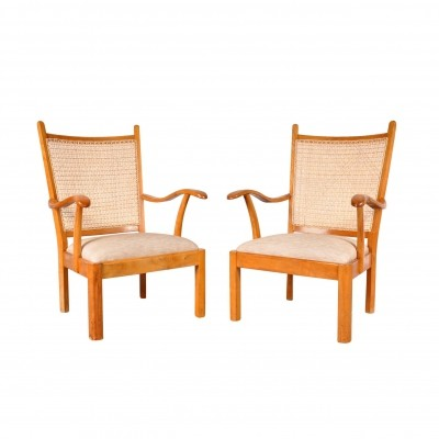 Set of Two Easy Chairs by Bas Van Pelt for My Home, Netherlands 1940s