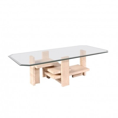 1980s Coffee Table by Willy Ballez, Made in Belgium