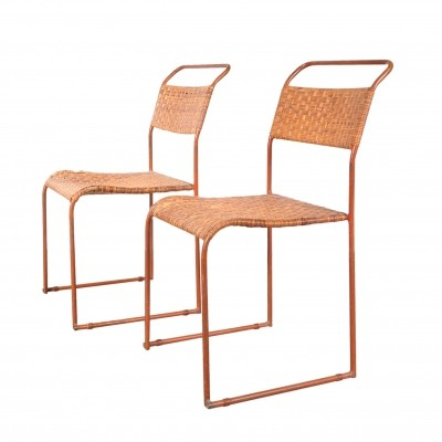 Set of Two Bauhaus Prototype Dining Chairs, 1930s