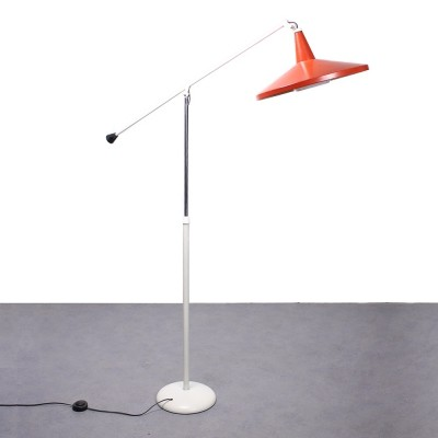 Vintage Panama floor lamp by Wim Rietveld for Gispen