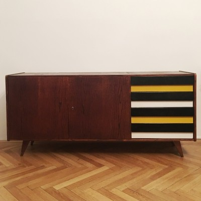U 460 yellow & gray Sideboard by Jiri Jiroutek for Interier Praha