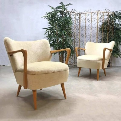Pair of Vintage cocktail armchairs, 1950s