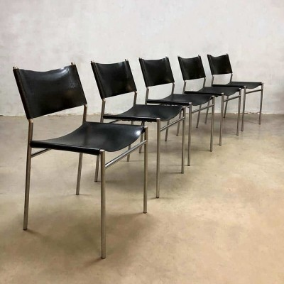 Set of 5 Vintage dining chairs model SE06 by Martin Visser for Spectrum