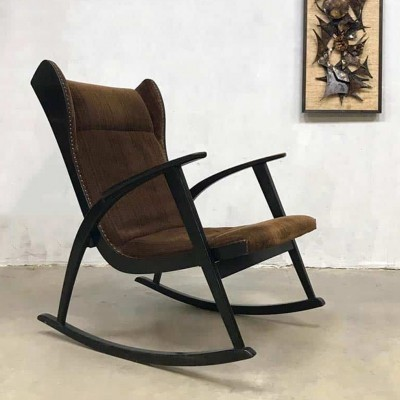 Vintage Danish design wingback rocking chair