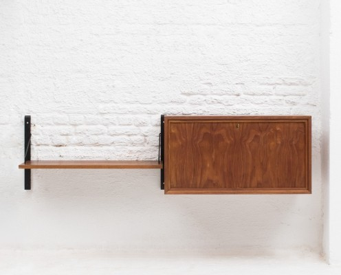 2-piece wall unit by Poul Cadovius, Denmark 1960s