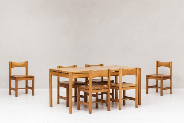 Hongisto dining set by Ilmari Tapiovaara for Laukaan Puu, Finland 1960