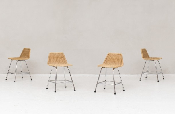 4 stools by Rohé Noordwolde, Netherlands 1960s