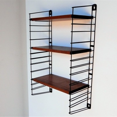 Small metal & wood shelving unit by A.D. Dekker for Tomado, The Netherlands