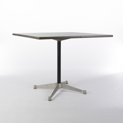 White Herman Miller Original Eames Square Contract Dining Table
