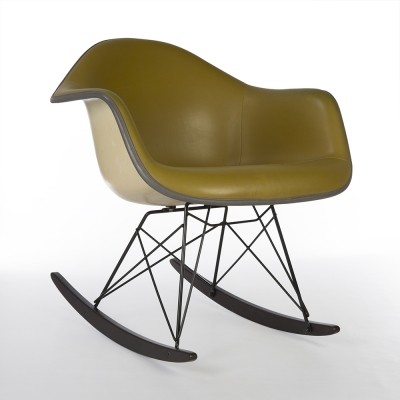 Mustard Herman Miller Original Eames RAR Rocking Arm Chair